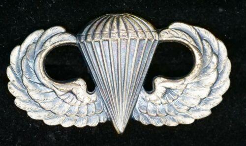 Vintage Vietnam Era US Army Paratrooper Parachutist Badge Sterling Silver