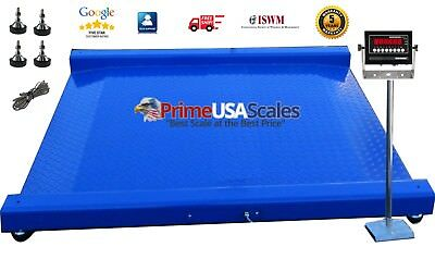 New Industrial Warehouse Ntep Drum Scale 60 X 56 Floor Scale 8000 Lbs X 1 Lb