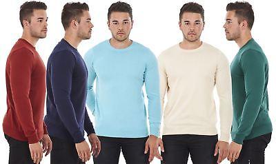 Men's Pure Cotton Crew Neck Sweatshirt Jumper Sweater Pullover Top