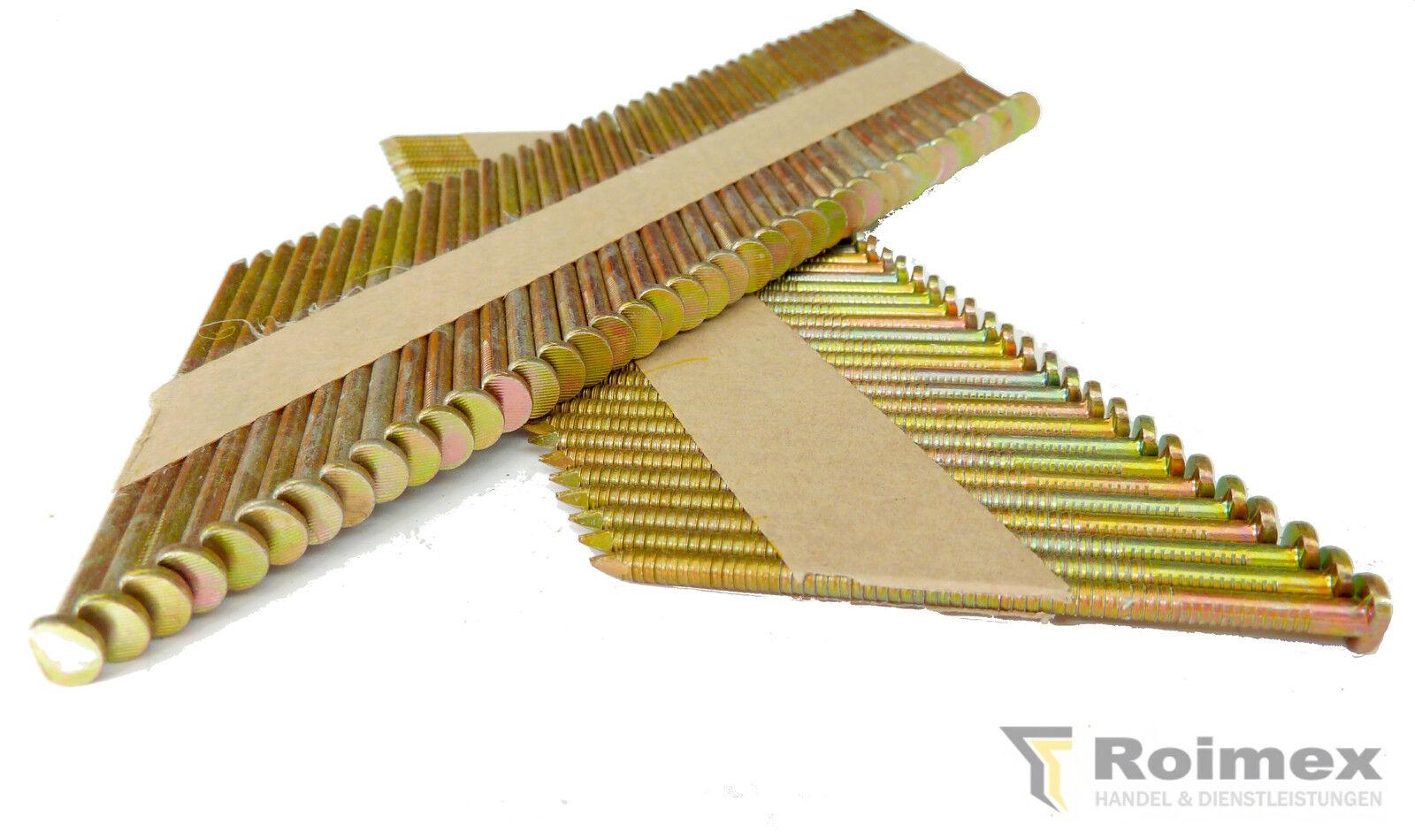3000 Streifennägel 34° papiergeb. D-Kopf  50-100mm für BeA Paslode Prebena u.a.