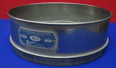 Gilson A.s.t.m.e. -11 Astme-11 Specification No.4 U.s.a.standard Testing Sieve