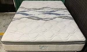 Excellent condition thick Pillow Top white queen mattress only #19