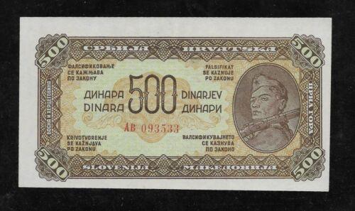 Yugoslavia, 500 dinara 1944 (Russian print),  HIGH GRADE, scarce
