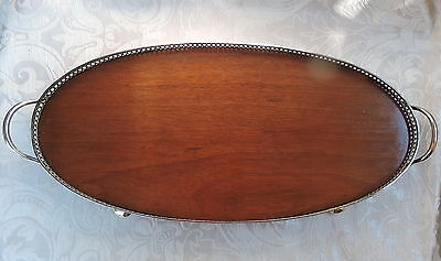 A Mahogany and  Silver Plate Gallery Tray from H.M.S. Dreadnought c1900