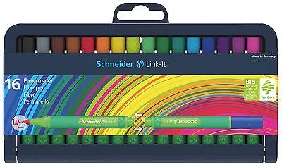 Schneider Link-IT Fasermaler Box mit 16 Stiften