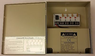 CCTV Power Supply Box Distribution Unit 4 Ports Output PTC Fuse 12V DC 5Amp  5 Amp Power Supply Box