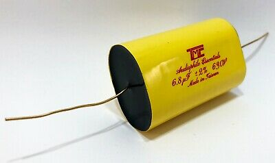 4x Audiophile Gold Mylar Capacitors 6.8uf 630v -2 Audio Crossover Filter