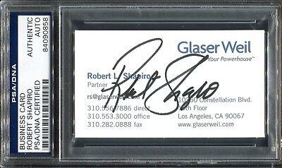 Robert Shapiro Oj Simpson Lawyer Signed Business Card Psa Dna Autograph Coa  58