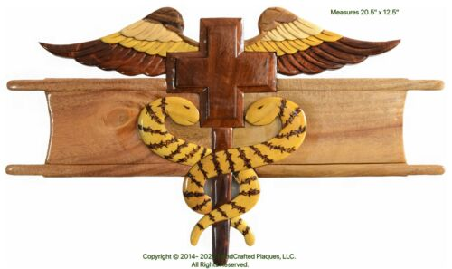 EXPERT FIELD MEDICAL BADGE - EFMB - Handcrafted Wood Art Military Plaque
