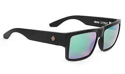Spy CYRUS  Matte Black w/ Happy Green Spectra  Polarized Sunglasses