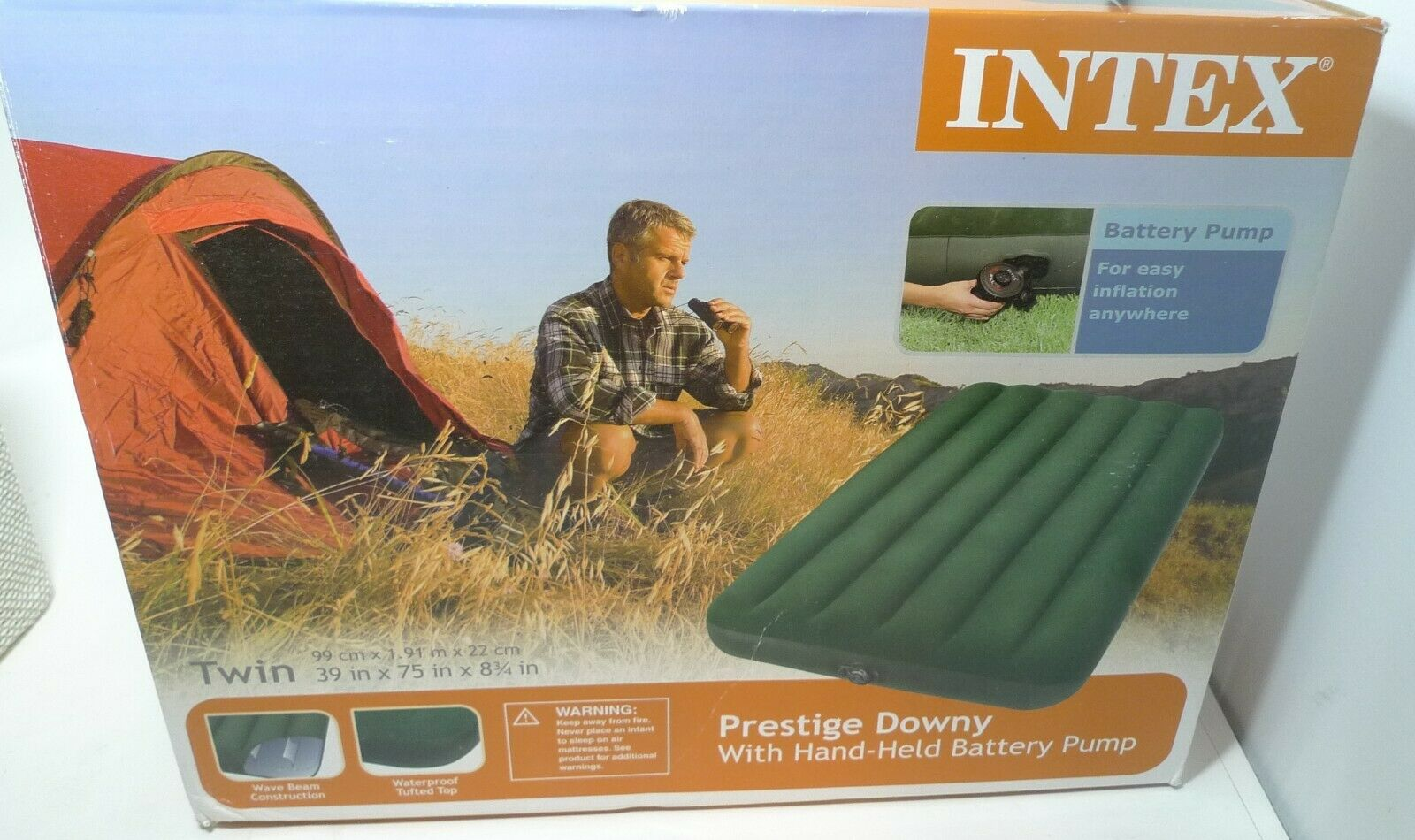 new prestige downy portable inflatable twin air