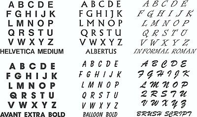 Letter Sets Vinyl Color Decal - Sticker - Oracal 651 ID Letters - Chalkboard Letters