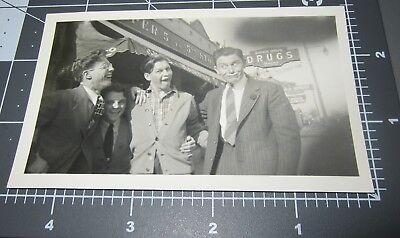 Men Make Funny Faces Neon Sign Drugs Lowes Hardware Man Vintage Snapshot Photo