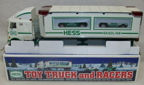 """Hess 1997 """"Toy Truck and Racers"""" In Box (Display Only, Not A Toy) with Packaging"""