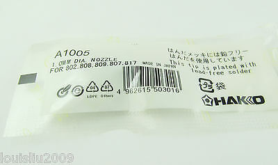 1pc New A1005 1.0mm Dia Leader-free Solder Tip For Hakko 802 808 809 807 817
