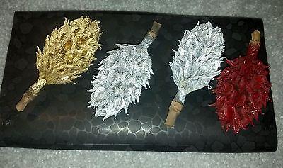 Natural magnolia seed pod Christmas tree ornaments; holiday decorations;homemade ()