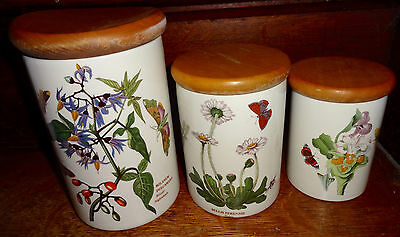 Portmeirion Botanic Garden 3 Pc Canister Set Woody Nightshade Daisy Lady - Lady Nightshade
