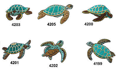 #4199~05 Ocean/Sea Turtle Embroidery Iron On Applique Patch