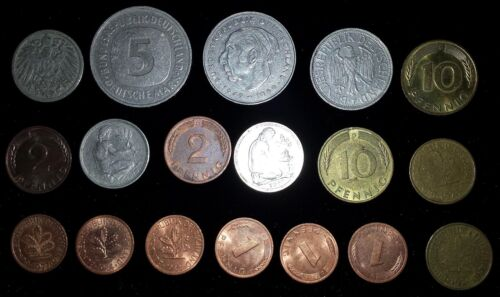 18 mixed lot Germany Coins dated 1896-1980