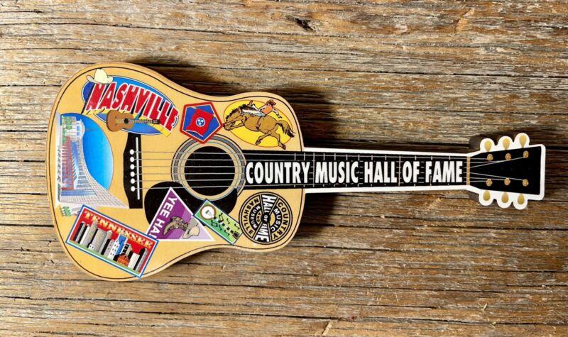 Nashville Country Music Hall of Fame Guitar Magnet NWOT