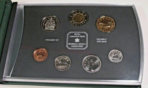 Royal Canadian Mint 2000 Canada Specimen Coin Set With COA
