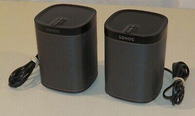 Sonos Play:1 Pair 2 Room Streaming Music Wireless Multi Room Audio System -black