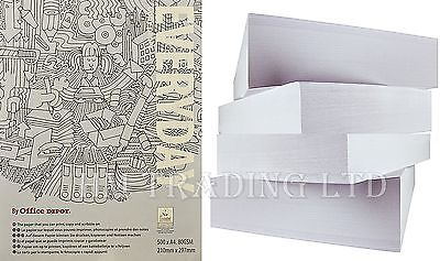 A4 80GSM Everyday Copy Printing White Paper Ream Copier Printer Office