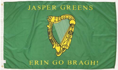Jasper Greens Irish Georgia Indoor Outdoor Historical Dyed Nylon Flag 3