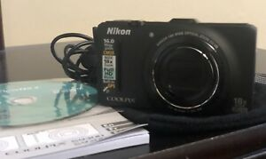 Nikon Coolpix S9300 16.0 MP Digital Camera - Black