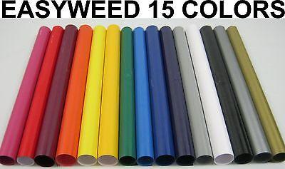 15 Colors Siser Heat Press Transfer Vinyl Kit - 15 Rolls - 15 X 12 Each