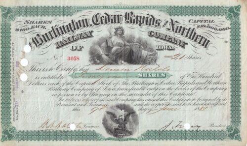 BURLINGTON CEDAR RAPIDS & NORTHERN RAILROAD COMPANY 1800
