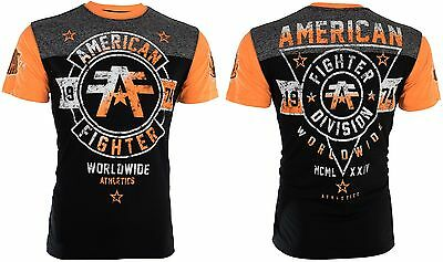AMERICAN FIGHTER Mens T-Shirt SILVER LAKE Athletic BLACK Biker Gym MMA UFC $40