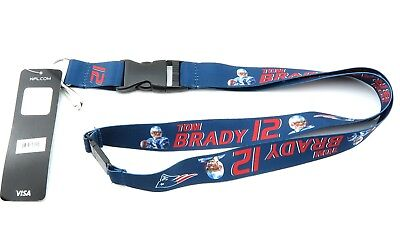 Player Lanyard (PATRIOTS TOM BRADY NFL Official Licensed Football Player Action)