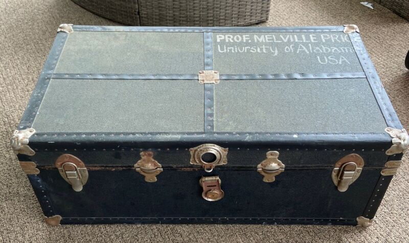 PROFESSOR MELVILLE PRICE PERSONAL OWNED TRAVEL CHEST VINTAGE ONE OF A KIND RARE