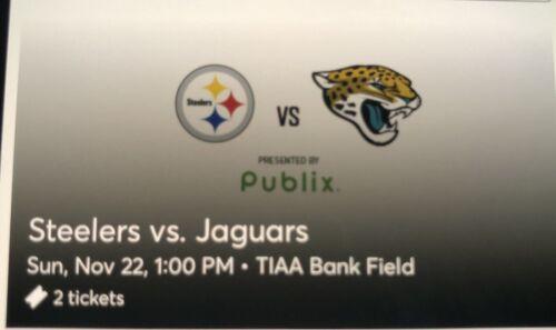 Pittsburgh Steelers Vs. Jacksonville Jaguars 11/22 2 Tickets  - $200.00