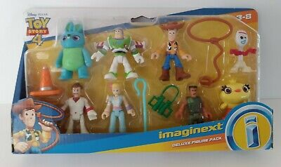 TOY STORY 4 DELUXE FIGURE SET * FISHER PRICE * IMAGINEXT * WOODY, BUZZ, FORKY