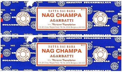 Nag Champa Incense (Satya Sai Baba Nag Champa Incense Sticks PACK OF 2 (100 GRAM) Free)