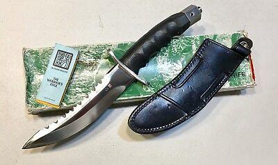 Vintage 1980' Rare Al Mar Warriors Japan Dagger Knife Original Sheath Case Paper