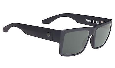Spy CYRUS Matte Black w/ Happy Grey Sunglasses 673180374863 - Free Express Post