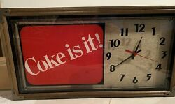 Vintage Coca-Cola Classic Hanover Quartz Wall Clock with Original Box - 1990