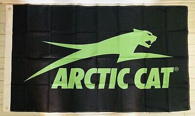ARCTIC CAT FLAG BANNER DRAPEAU SNOWMOBILE MAN CAVE GARAGE