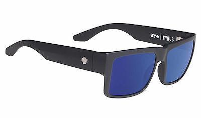 Spy CYRUS  Soft Matte Black w/ Happy Blue Spectra Sunglasses - Free Express Post