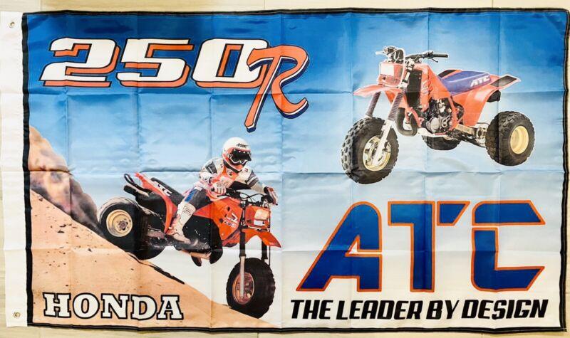 Honda 250R ATV S ATC FLAG BANNER DRAPEAU MAN CAVE GARAGE