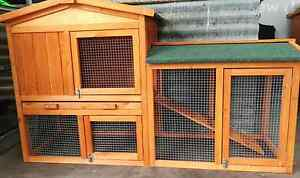 ❤❤RABBIT CHICKEN COOP HUTCHPACKAGE 138CM LONG DOUBLE PITCHED ROOF Londonderry Penrith Area Preview