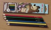 6 Lápices De Color Masha Y El Oso -  - ebay.es