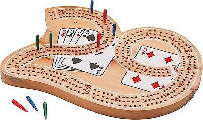 Mainstreet Classics Wooden 29 Cribbage Wood Track Cards New Board Game Set