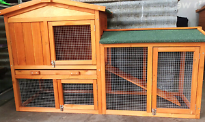 ❤RABBIT GUINEA PIG HUTCH PACKAGE 138CM LONG DOUBLE PITCHED ROOF Londonderry Penrith Area Preview