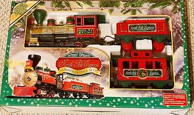 North Pole Express Christmas Train Set 22 Piece in Factory Box New Plays Carols!