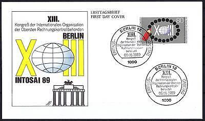 Berlin 1989: Kongreß internationaler Rechnungskontrollbehörden! FDC Nr 843! 1710
