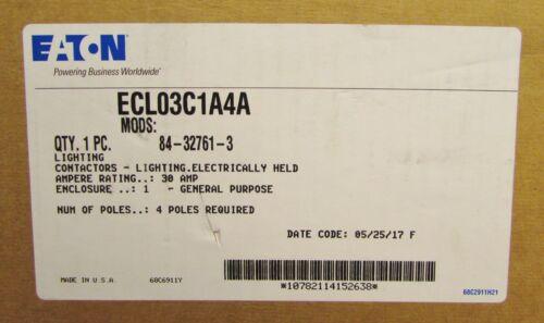 EATON CUTLER HAMMER ECL03C1A4A Lighting Contactor Nema 1 Enclosure 110/120V